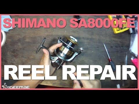 [Reel Repair] Shimano SA8000FE Sustain Spinning Reel Replacing Gear