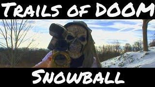 Snow Paintball Sniper Assassins Hunting each other in the Woods at Trails of Doom Blizzard