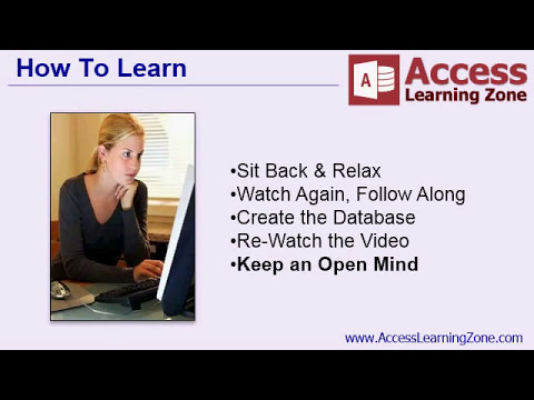 Microsoft Access 2013 Tutorial Part 00 of 12 - Introduction