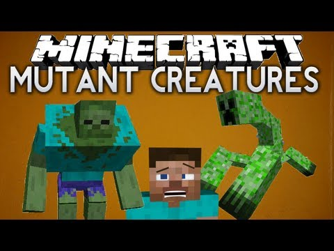 Minecraft: Mutant Creatures mod - MUTANT ZOMBIE & MUTANT CREEPER!