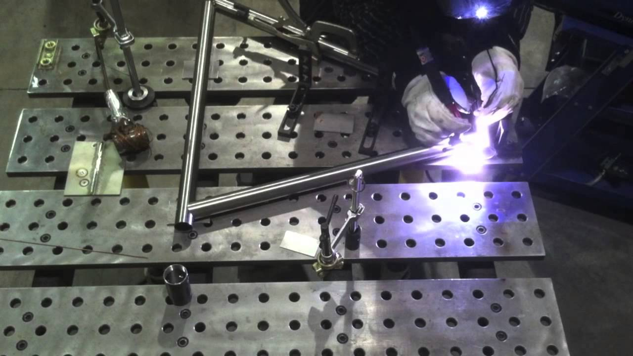 Welding A Bike Frame On A Stronghand Buildpro Table Youtube