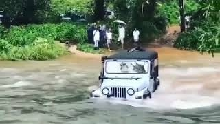 Mahindra Thar crossing a river