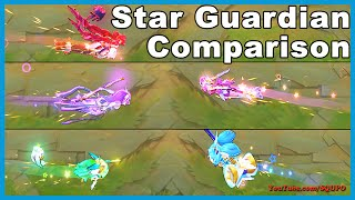 All Star Guardian Skins Comparison - Speed,Recall,Death (League of Legends)