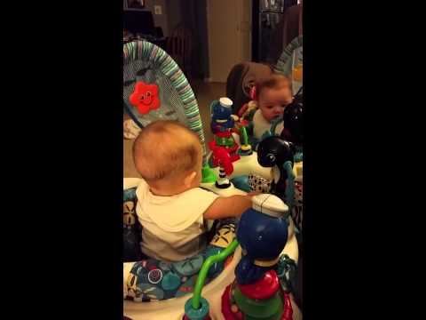Laughing Twin Babies