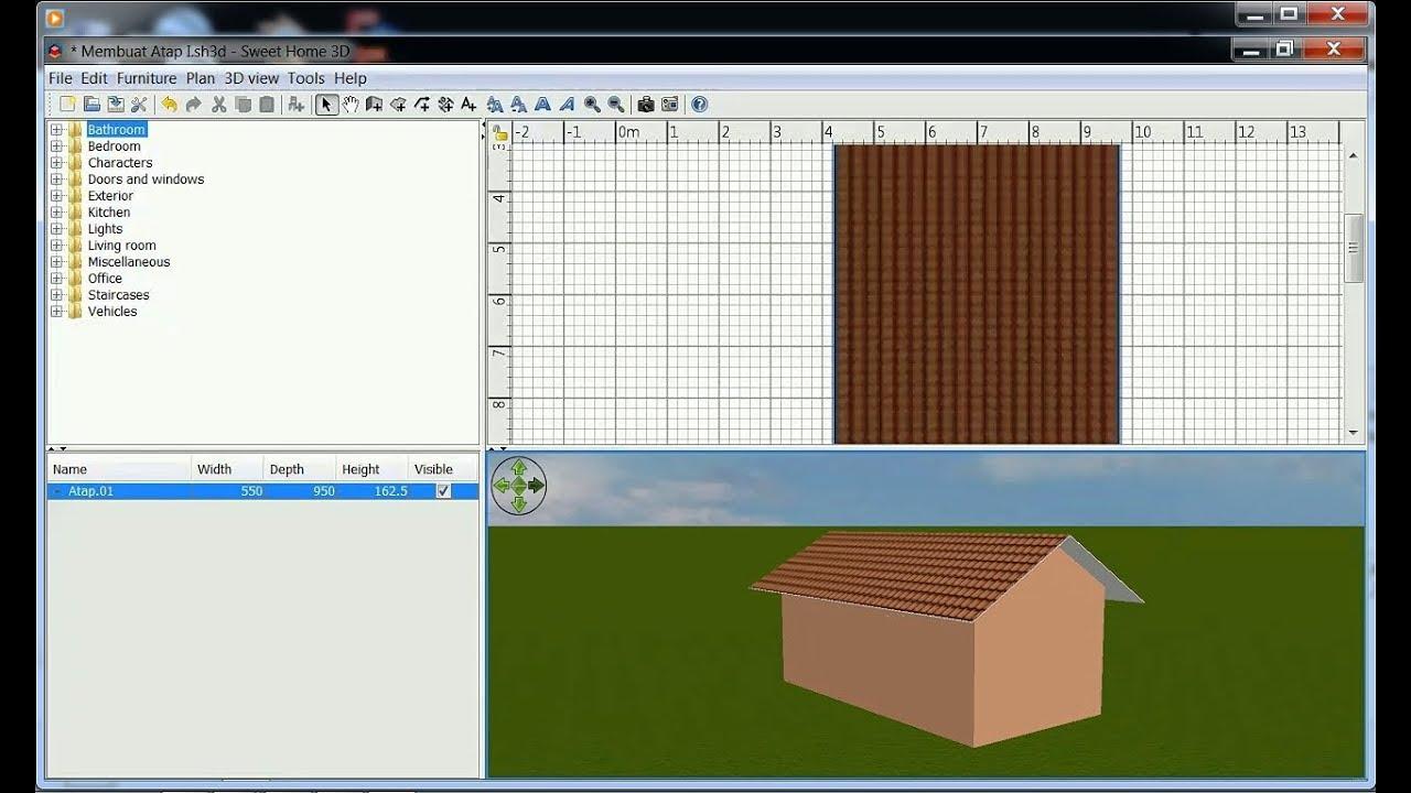 Как сделать крышу в 3d sweet home 3d 600