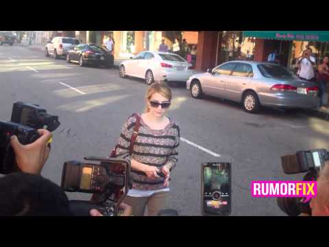 Emma Roberts Gets Mobbed
