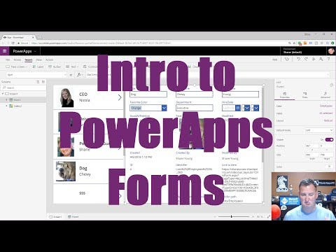 PowerApps Forms - Introduction to data sources, data cards, and layout