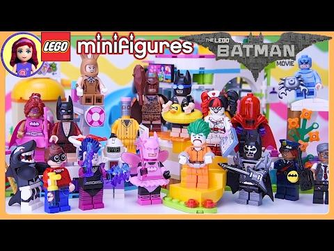 LEGO Batman Movie Minifigures Complete Set at Heartlake Summer Pool Build - Kids Toys