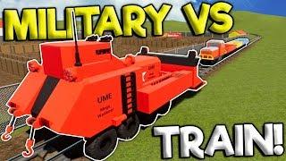 LEGO MILITARY BULLDOZER CRASHES INTO TRAIN! - Brick Rigs Roleplay Gameplay - Lego City Train