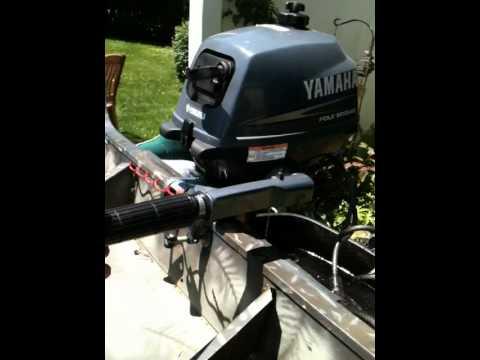 Yamaha 2 5 Hp 4 Stroke Outboard Motor Youtube