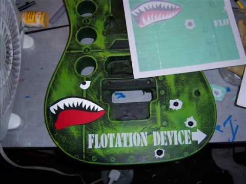 Guitar Body Paint Designs How to Paint a Guitar Body or