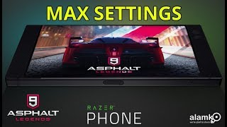 Asphalt 9: LEGENDS iOS/Android Gameplay using Razer Phone MAX SETTINGS