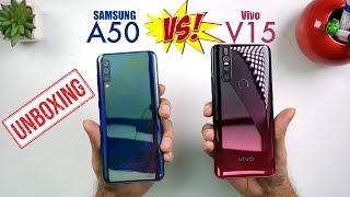 Vivo V15 vs Samsung Galaxy A50 Comparison:  Camera   Specs   Price   PUBG [Hindi]