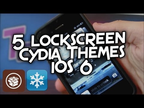 Top 5 Lockscreen Cydia Themes for iPhone/iPod Touch - iOS 6 Jailbreak Evasi0n - 2013