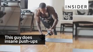 This guy does INSANE push-ups