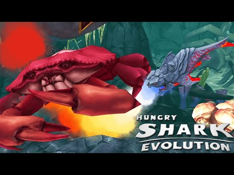 Hungry Shark Evolution - New Special Lava Shark The Pyro Shark Vs Boss Crab!