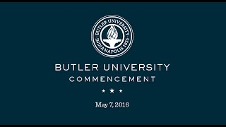 Butler University Spring Commencement 2016