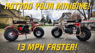 HOTROD Your Coleman Mini Bike!  13 MPH Speed Gain!