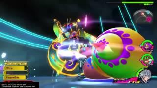 Riku vs Commantis (The Grid boss) - Kingdom Hearts: Dream Drop Distance HD