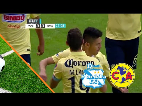 Gol de Oribe Peralta Puebla 0 - 3 América