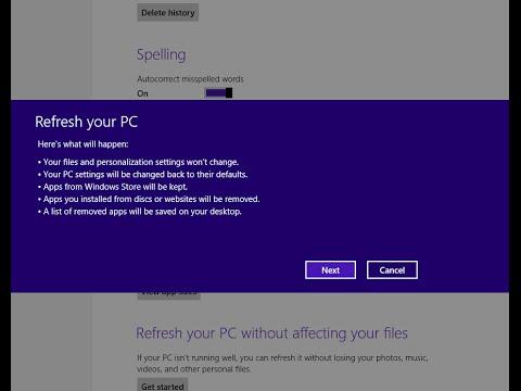 Jak Naprawić Funkcję Przywracania Systemu Do Ustawień Fabrycznych W Windows 8.1