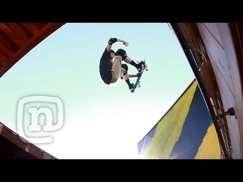 Jeff King's Monster Skateboard Quarterpipe Through The Roof! Raw N' Reel