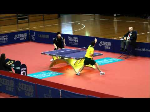 Oceania Table Tennis Olympic Qualification 2012 Phillip Xiao v. David Powell Stage 2 (Partial)