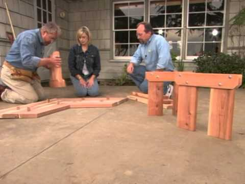 How To Build A Bench Around A Tree Youtube