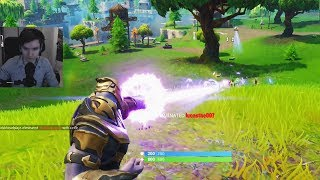 Teo plays as Thanos - Fortnite Infinity Gauntlet Gameplay