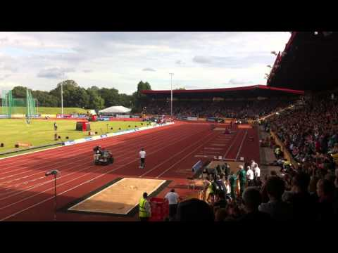 Mo Farah at Birmingham Diamond League Meet 2014 (2 mile)