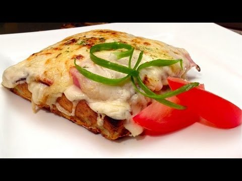 MR CRUNCHY - Potato Waffle Croque Monsieur Recipe