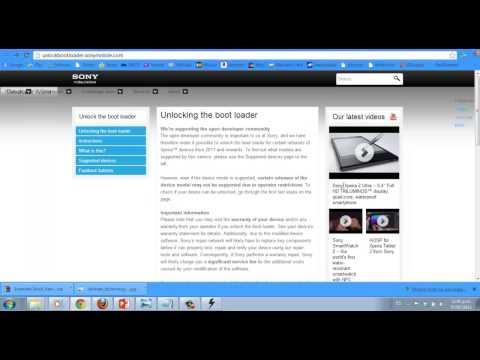 Desbloquear el Bootloader en Telefonos Sony Xperia