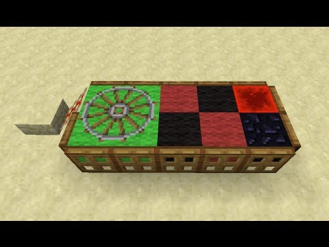 Roulette table in minecraft youtube for Table tv a roulettes