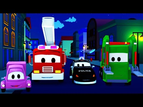 The Car Patrol: fire truck, police car and the Mystery of the Night in Car City | Cartoon for kids