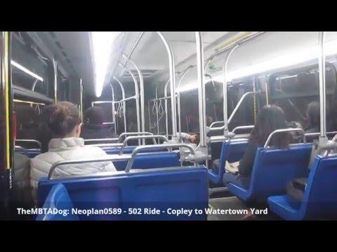 TheMBTADog: MBTA Bus 502 Ride: COPLEY SQUARE to WATERTOWN YARD via MASS PIKE EXPRESS [Neoplan 0589]