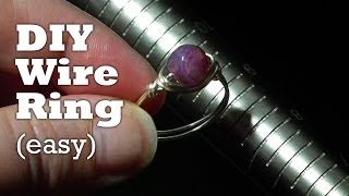 How to Make a Wire Wrapped Ring in Under 3 Minutes