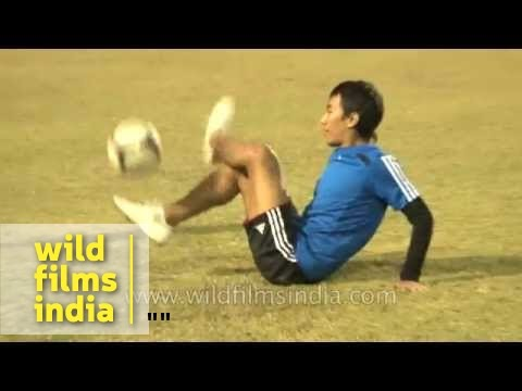Freestyle football display by experts from north-east India!