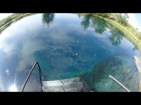 Загадочное Голубое озеро. Голубая лагуна. Самарская область