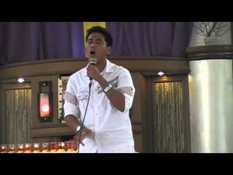 Mark Anthony Atienza singing Our Father/I Believe 7 Last Words @St. Augustine Parish