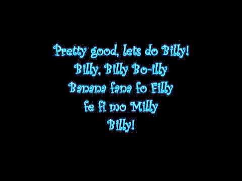 Billi Billi Bo-illy, Banana Fana Fo Filly