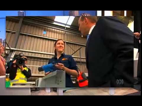 PM and Minister for Women Tony Abbott making small talk (14 Sept, 2014).