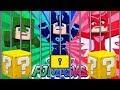 PİJAMASKELİLER ÖLÜMDEN DÖNDÜ (Pijamaskeliler Yeni Minecraft Macerası Şans Blokları)