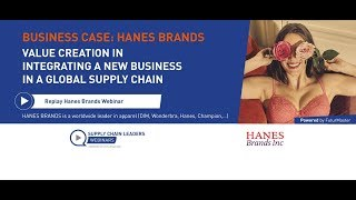 HanesBrands: Value creation in integrating a new business in a global supply chain