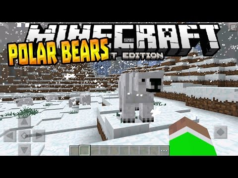 POLAR BEARS COMING in MCPE!!! - Confirmed Mob News Update - Minecraft PE (Pocket Edition)