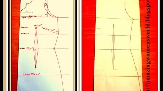 BODY MEASUREMENTS DRAFTING & DART MANIPULATION  for KURTIS / DRESSES/ GOWNS.