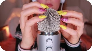 1Hr No Talking ASMR Blue Yeti Tapping and Scratching ~