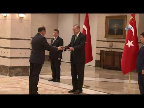 Cumhurbaşkanı Erdoğan, Ürdün Büyükelçisi İsmail İssa Rifaie'ni Kabul Etti