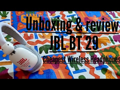 Unboxing & review JBL Bluetooth headphones (cheapest wireless headphones)