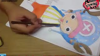 Chopper speed Drawing One Piece كيف ترسم تشوبر