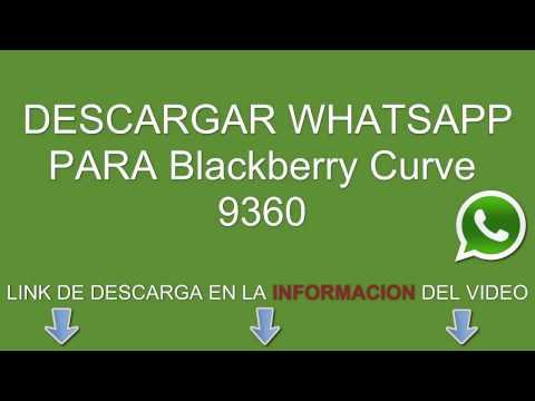 Descargar whatsapp para Blackberry Curve 9360 gratis